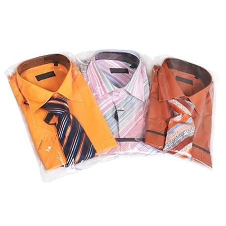 Hangerworld x cm bolsas de plástico con autocierre para camisas ropa unidades