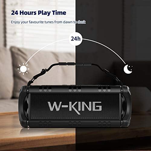 50W(70W Peak) Wireless Bluetooth Speakers Built-in 8000mAh Battery Power Bank, W-KING Outdoor Portable Waterproof TWS, DSP, NFC Speaker, Powerful Rich Bass Loud Stereo Sound 41IpOQ0WQJL