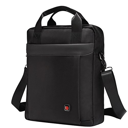 Soperwillton Vertical Shoulder Messenger Bag for iPad, Tablet and Laptop Upto 14'