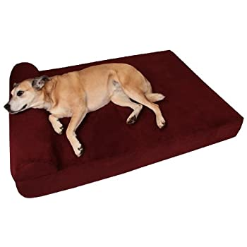 Image of Home and Kitchen Big Barker 7' Pillow Top Orthopedic Dog Bed for Large and Extra Large Breed Dogs (Headrest Edition)