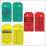 """Scaffold Tag Kit- 6"""" Disposable Tags- 10 Red Tags, 10 Green Tags, 10 Yellow Tags"""