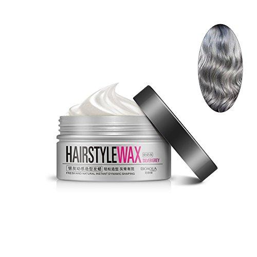 GoodPing Argent Gris Cire, Modélisation Dynamique Instantané Cheveux Style Argile Fraîche Et Cire Naturelle Coiffure