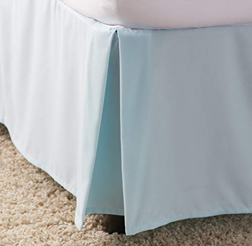Ben & Jonah Simple Elegance 1500 Series Queen Size Solid Bed Skirt with 14'' Drop - Spa Blue by Ben & Jonah