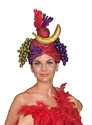 Halloween Fruit Baskets (Rubie's Unisex-Adult's Carmen Miranda Hat, Multicolor, One)