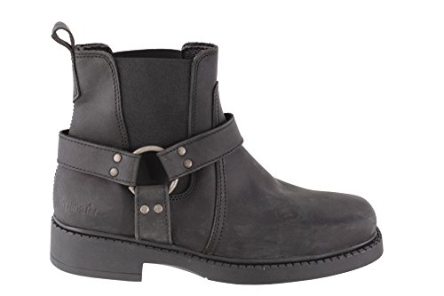 Wrangler Inver Herren Chelsea Boots, braun, Crazy Horse. Schwarz