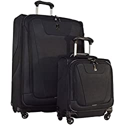 "Travelpro Maxlite 4 2-Piece Luggage Set: 29"" Expandable Spinner & Under Seat Bag Carry On (Black)"