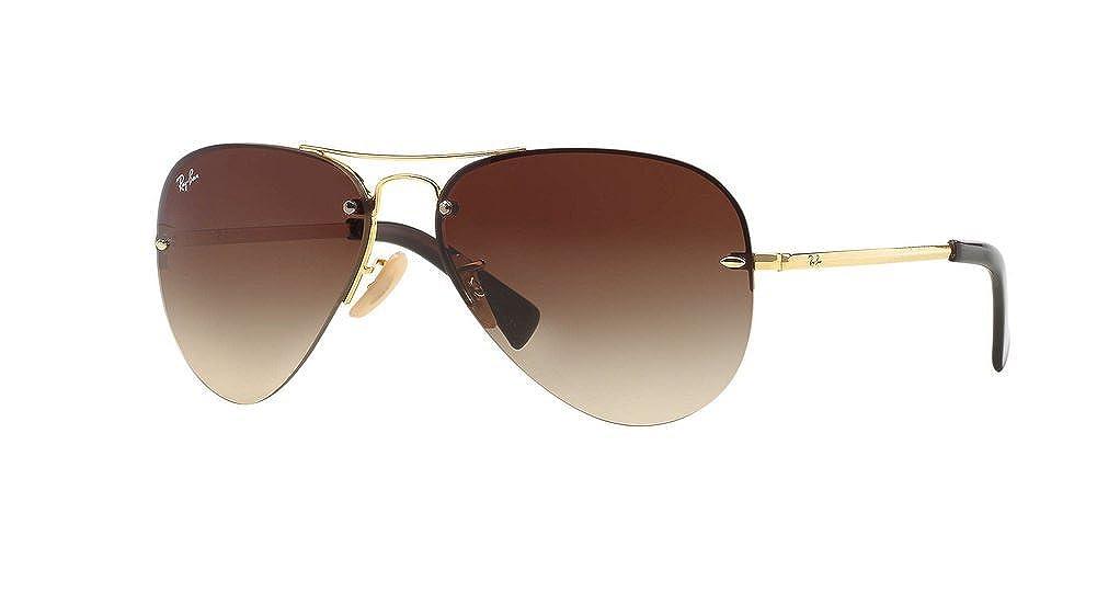 34b375068b7f Amazon.com  Ray Ban RB3449 001 13 59 Arista Brown Gradient Aviator  Sunglasses Bundle-2 Items  Clothing