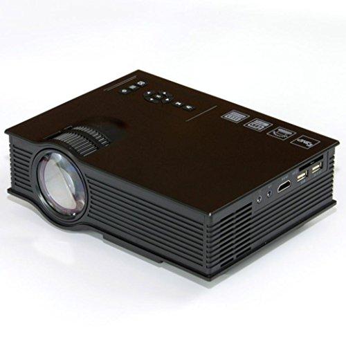 Odgear mini projector uc40 3d 1080p portable led projector for Portable projector with usb port