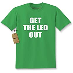 Kids Get The Led Out T-Shirt X-Large Kelly Green
