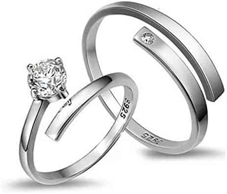 8b49a503bb s925 Silver Couple Lover Rings one Pair Men Women Lettering Ring Women Gift  Students on Ring