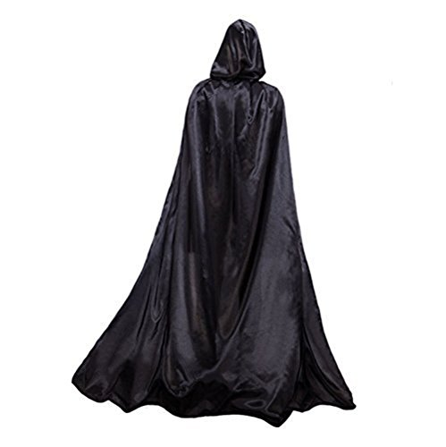 Adults Long Halloween Fancy Dress Hooded Robe Cloak Wizard Cosplay Costumes Cape]()