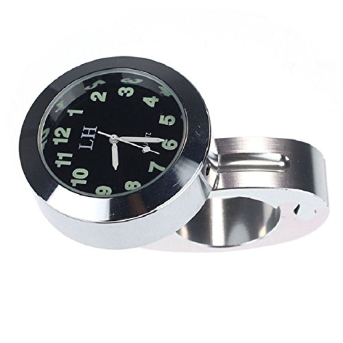 Culater® wasserdicht großes Ziffernblatt Motorrad Lenker Uhr Motorraduhr Silber