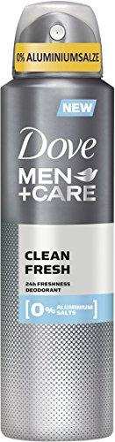 Dove Men+Care Deospray Clean Fresh ohne Aluminium, 6er Pack (6 x 150 ml)