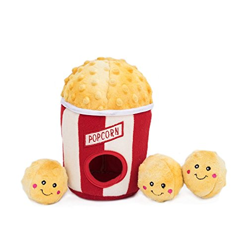 (ZippyPaws ZP860 Popcorn Bucket Squeak Toy)