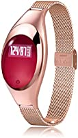 Women Smart Bracelet Ladies High-end Metal Jewelry Bracelet Steps Caculation Health Detection Heart Rate Monitor Blood...