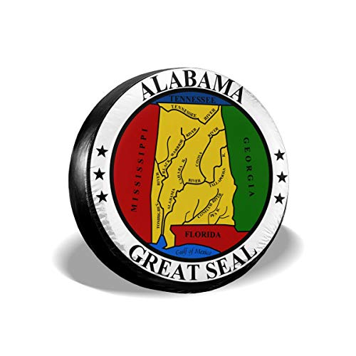 Alabama State Seal Spare Tire Cover Protector Inspirational Wheel Tire Cover Camper Travel Trailer Accessories for Most Vehicle