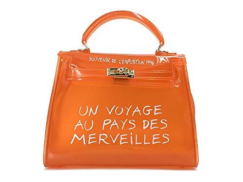 Clear Crossbody Handbags, Fashion Women's Waterproof Clear Handbag Top Handle Shoulder Bag Transparent Purse (Small, ()