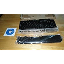 Genuine Dell SK-3205 104 Key Wired USB Keyboard KW240, NY559, KW218 With Smart Card Reader (Drivers Included), And Palm Rest