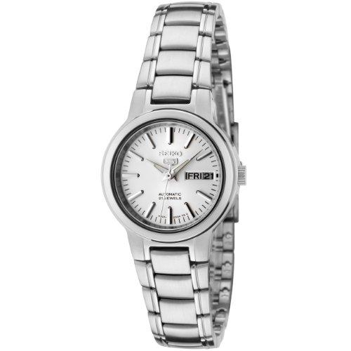 (Seiko Women's SYME39K1 Seiko 5 Automatic Light Silver Dial Stainless Steel Watch)