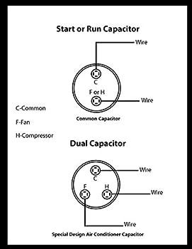 55+5 MFD uF Air Conditioner Capacitor Round Aluminum Electrolytic Dual  Motor Run Capacitor 450V AC Withstand Voltage for Straight Cool Condenser  or Heat Pump: Amazon.com: Industrial & ScientificAmazon.com