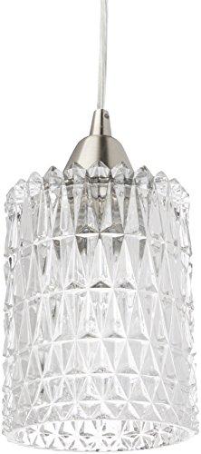 Elk Lighting 10343/1 Kersey Collection 1 Light Mini Pendant, Satin Nickel ()