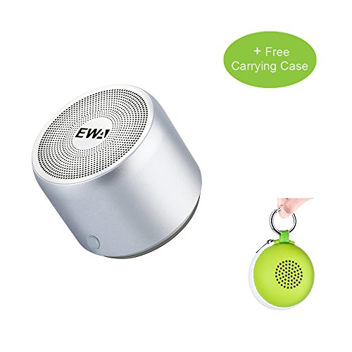 EWA Egg-Sized SoundElf Portable Wireless Bluetooth Mini Speaker with Passive Subwoofer, Enhanced Impactive Bass, Tiny Body Loud Voice, Minimalism Design, Perfect Speaker for Sports, Travel and Home.