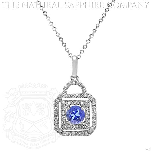 0.60ct. Natural Untreated Blue Sapphire Pendant with 59 Diamonds 0.40ct. total. (J2892)