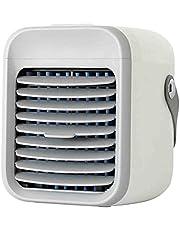 2021 Beste Draagbare AC-Blast Auxiliary Draagbare AC Conditioner, USB 2000 mAh Batterij Oplaadbare 3 Snelheden Ventilator Koeler Luchtbevochtiger voor Camping Kamer Home Office