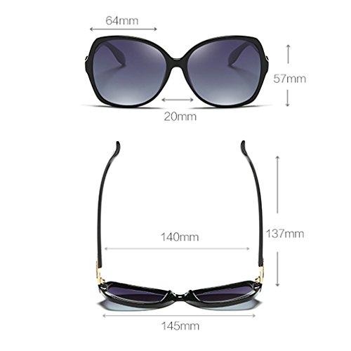 Purple polarizadas Mujer Wayfarer Vino 64mm Color Protección Clásica rojo la Manera Calle de Gafas Elegante sol de Ax6wgqPv