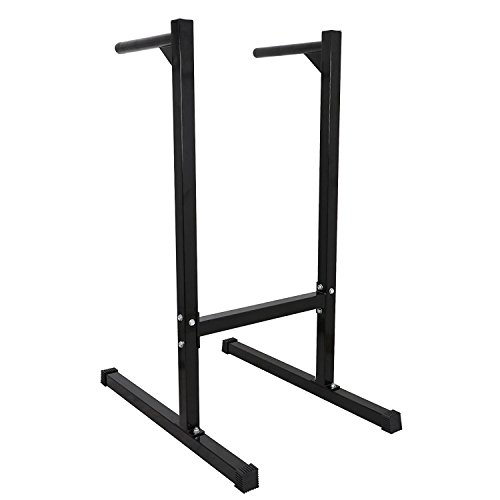 F2C 440lbs Heavy Duty Bicep Tricep Exercise Training Dipping Station Bars Self Standing Dip Bar Stand