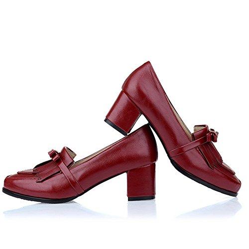 Chaussures Pompes Sur Tirer Red Femme Talons Balamasa Massif qgZ6Z8