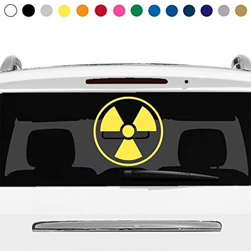 MANY SIZES and COLORS Radioactive Nuke Nuclear Biohazard Warning Symbol Sign Logo Car Truck Suv Rear Window Glass Decal Sticker Laptop V2