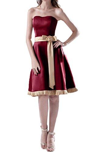 Missdressy -  Vestito  - Senza spalline - Donna rosso scuro 44