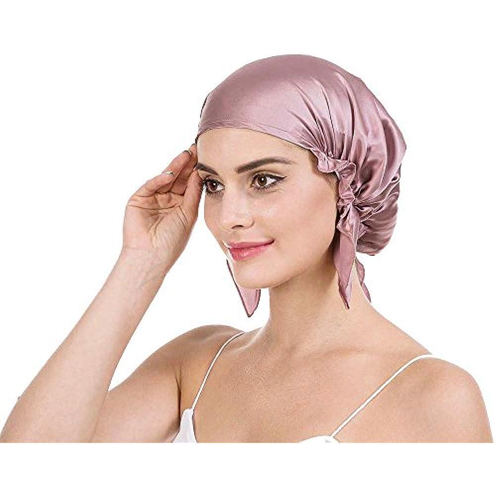 Luxurious Adjust Elastic and Soft Silk Satin Night Sleep Extra Large Bonnet