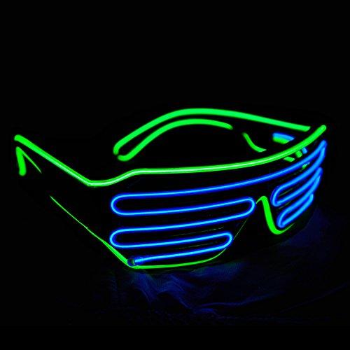 b8b6bf932d Aquat Glow Shutter Neon Rave Flashing Glasses El Wire LED - Import It All