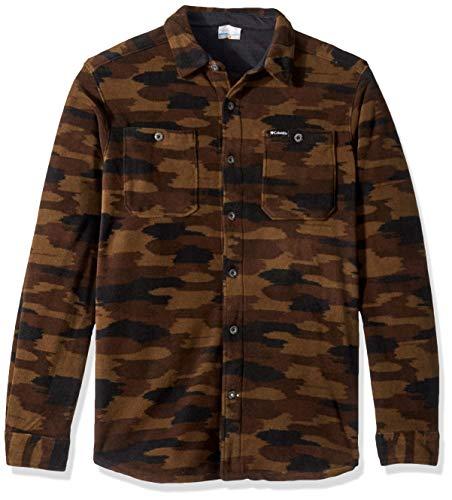 Columbia Men's Flare Gun Fleece Over Shirt, Olive Green camo, XX-Large (Mens Columbia Jacket Camo)