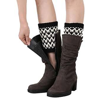 Women Leg Warmers Winter Boot Socks, TAORE Double Color