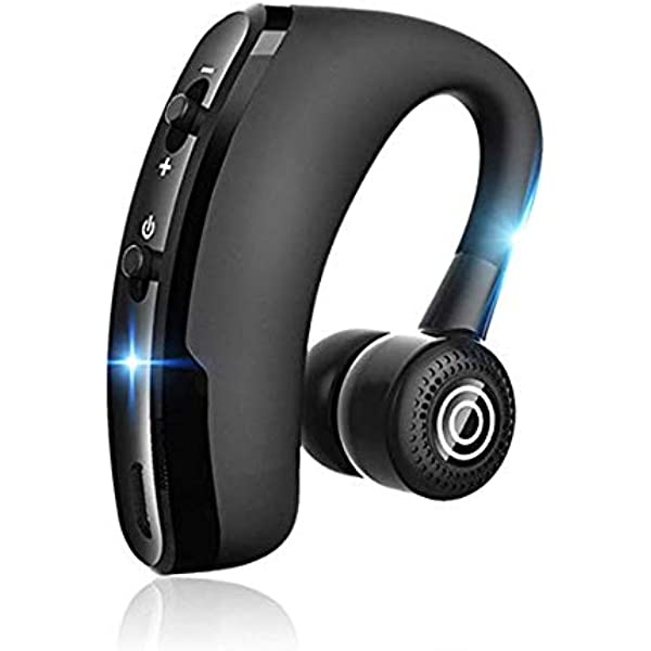 Amazon Com V9 Handsfree Business Wireless Bluetooth Headset With Mic Voice Control Headphone For Drive Connect With 2 Phone Home Audio Theater