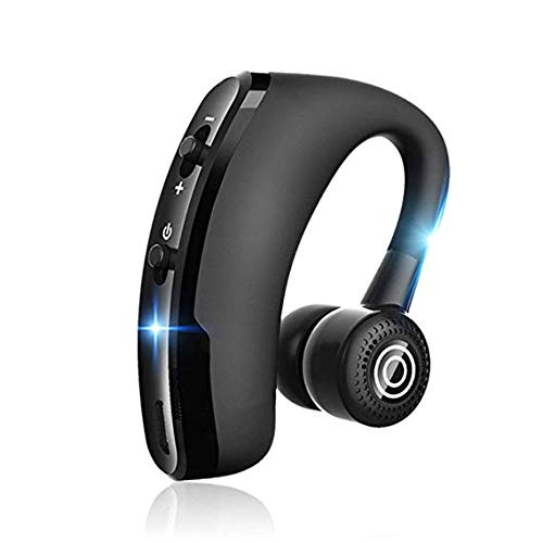 V9 Handsfree Business Wireless Bluetooth Headset with Mic Voice Control Headphone for Drive Connect with 2 Phone Cell Phone Caller Id