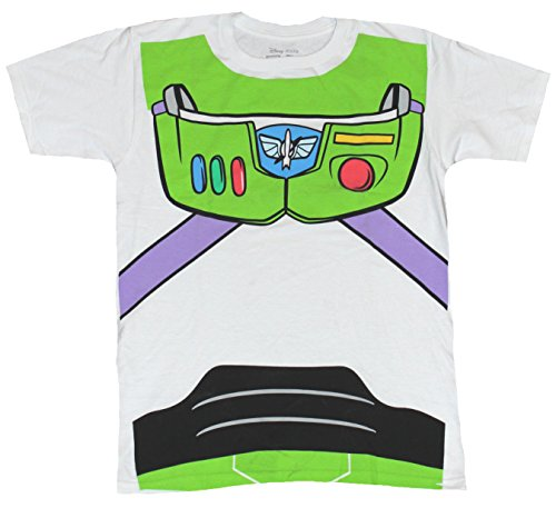 [Toy Story Mens T-Shirt - Buzz Lightyear Simple Costume Front (XXX-Large) White] (Buzz Lightyear Costumes Women)