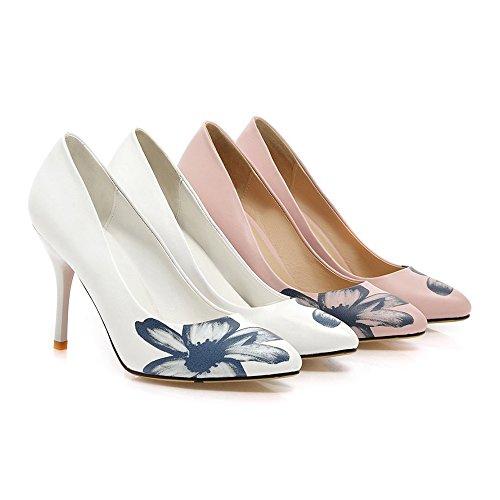 Thin Thin Low pink Heel Shoes cut High Printing q15w56FxI