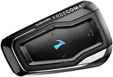 Cardo FRC40002 scala rider FREECOM 4 - Bike to Bike Bluetooth 4.1 Motorcycle Communication System with HD Audio, Connect with up to 4 riders (Single Pack)