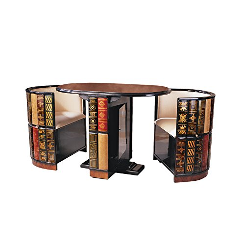 Design Toscano 3 Piece Dining Set (Library Chair)
