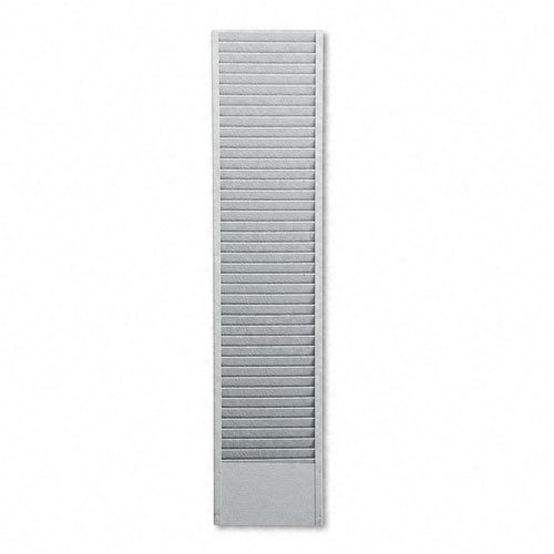 Buddy 40 Pocket Badge Holder - Buddy Products : 40-Pocket Badge Holder Rack, Horizontal, Recycled Steel, Platinum -:- Sold as 2 Packs of - 1 - / - Total of 2 Each