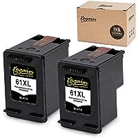 Kogain Remanufactured for HP 61 61XL Ink Cartridges 2 Black, High Yield Work with HP Envy 4500 5530 5534, OfficeJet 2620 4630 4635, DeskJet 1000 1512 2510 2540 3050a 3510 Printer