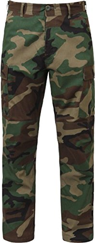 Woodland Camouflage Military Rip-Stop BDU Pants Summer Weight Cargo Fatigues