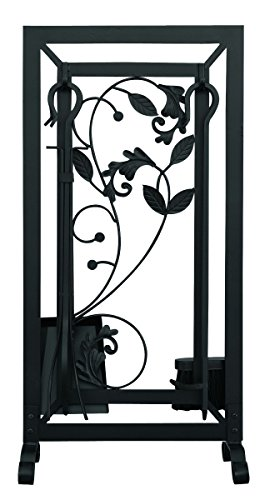Cheap Uniflame, F-1041, 5pc Black Fireset with Flowing Leaf Design