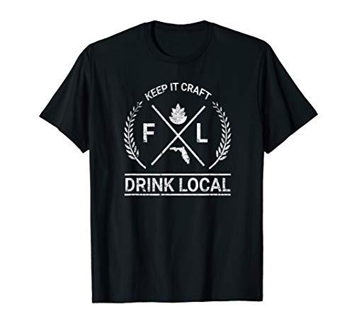 Drink Local Florida Vintage Craft Beer Brewing T-Shirt