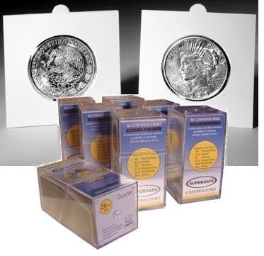 50 SuperSafe Self Sealing Cardboard 2x2s: Half Dollars