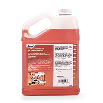 Camco 41197 TST Ultra-Concentrate Orange Scent RV Toilet Treatment, Formaldehyde Free, Breaks Down Waste And Tissue, Septic Tank Safe, Treats up to 16-40 Gallon Holding Tanks (1 Gal): Automotive